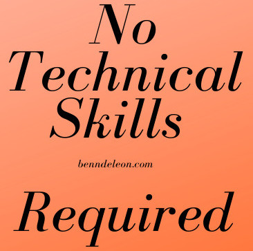 No Technical Skills required to become an affiliate marketer