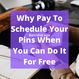 Why pay to schedule your pins when you can do it for free