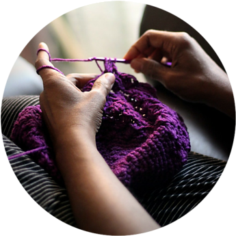 knitting - side hustle for single parents